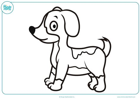 Dibujos de Perros para colorear - Mundo Primaria