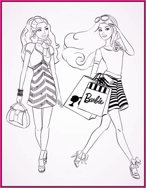Dibujos de princesas barbie para colorear e imprimir ...