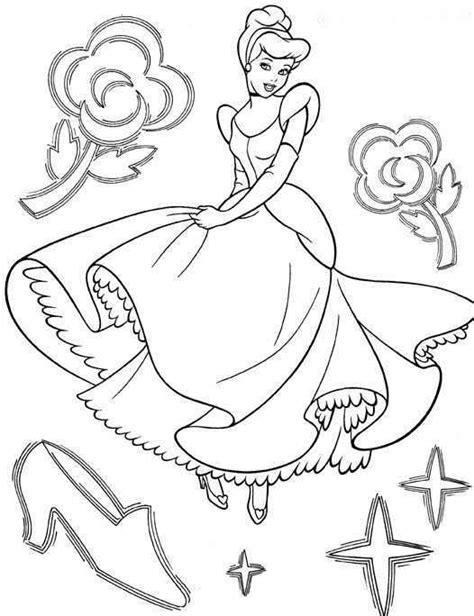 Dibujos de princesas para colorear e imprimir