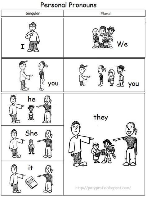 dibujos de pronombres personales en inglés para colorear ...