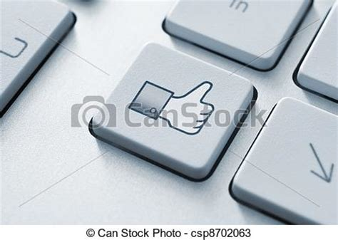Dibujos de pulgar, Arriba, como, botón, teclado, toned ...