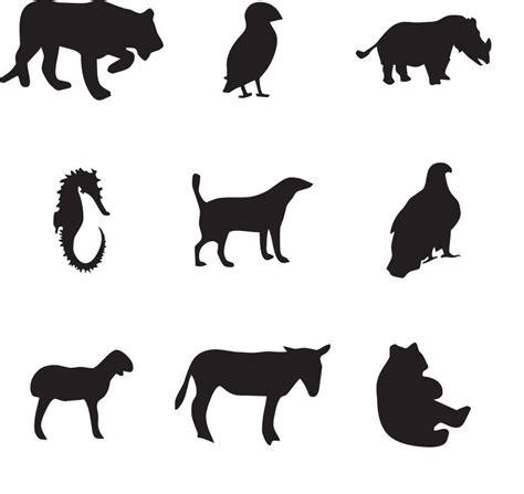 Dibujos de siluetas de animales para imprimir . Siluetas ...