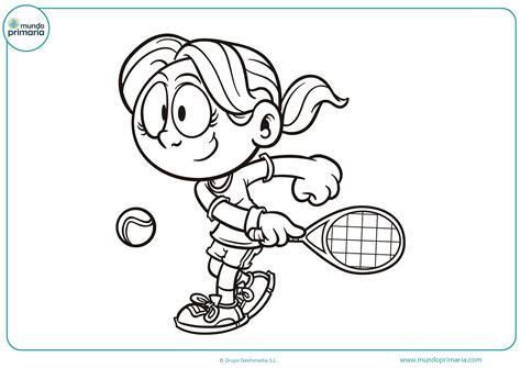 Dibujos de tenis para colorear   Mundo Primaria