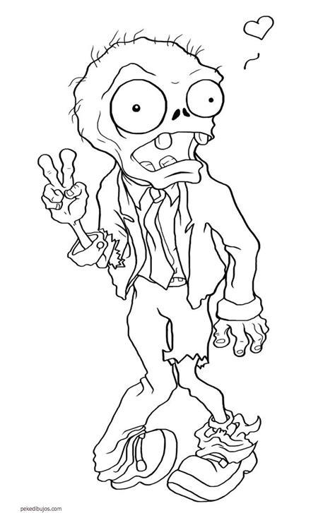 Dibujos de zombies para colorear