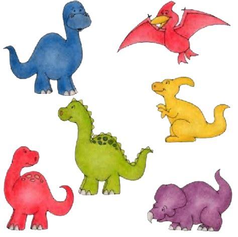 Dibujos infantiles dinosaurios graciosos en color para ...