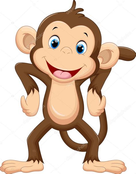 Dibujos: monos | dibujos animados mono lindo — Vector de ...