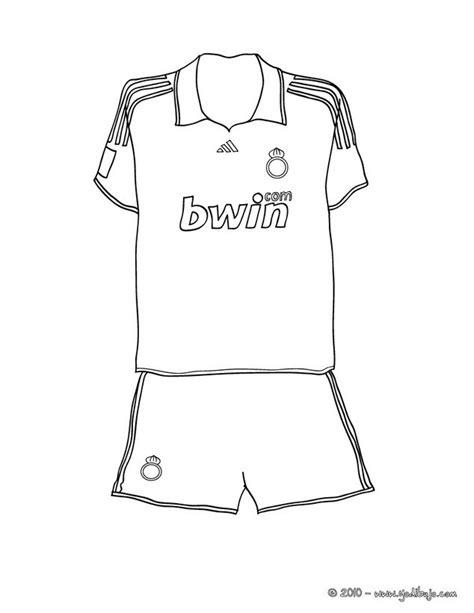 Dibujos para colorear camiseta de fútbol - es.hellokids.com
