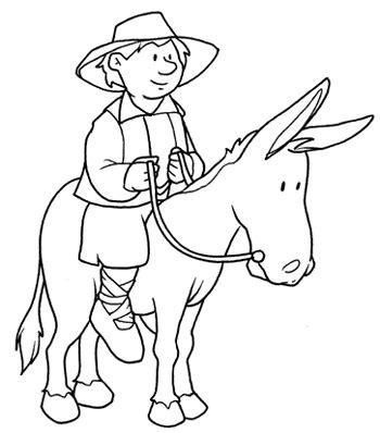 Dibujos para colorear de Don Quijote para niños | Día del ...