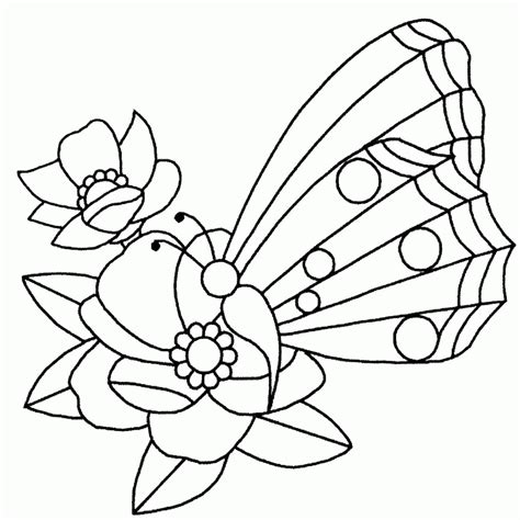 Dibujos Para Colorear De Mariposas Con Flores