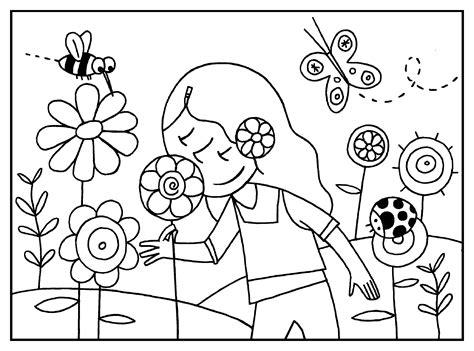 dibujos para colorear de primavera   Colorea Online Gratis