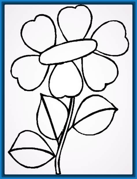 dibujos para colorear flores sencillas Archivos | Dibujos ...