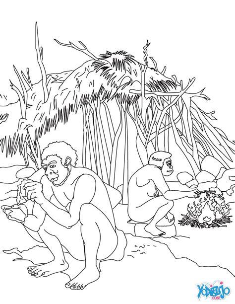 Dibujos para colorear hombres prehistoricos trabajando ...