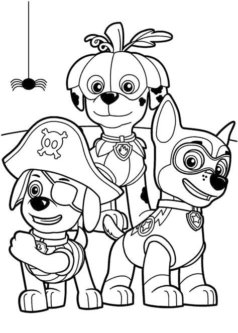 Dibujos para colorear La Patrulla Canina Chase, Marshall y ...