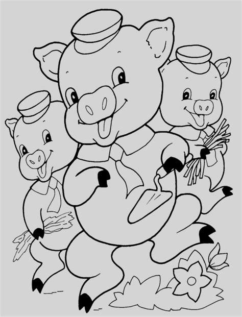 Dibujos Para Colorear Los Tres Cerditos Maestra De ...