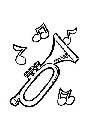 Dibujos para colorear música instrumentos musicales