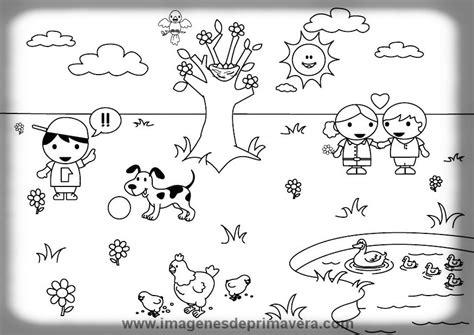 Dibujos Para Colorear Primavera   Imágenes de Primavera