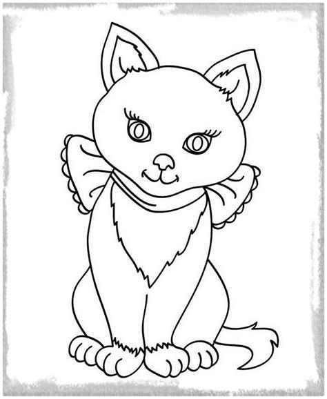 Dibujos Para Gatos. Gatos Colorear Dibujos. Dibujo De Gato ...