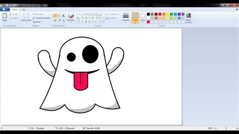 Dibujos para niños: Cómo dibujar un fantasmita con Paint ...