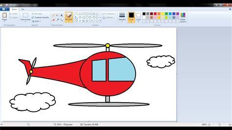 Dibujos para niños: Cómo dibujar un Helicoptero con Paint ...