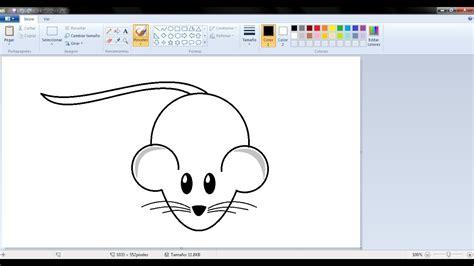 Dibujos para niños: Cómo dibujar un ratoncito con Paint ...