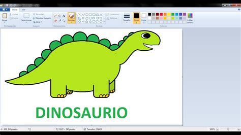 Dibujos para niños con Paint: Como dibujar un Dinosaurio ...