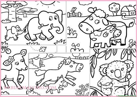 Dibujos para pintar | Animales y sus crías   Web del maestro