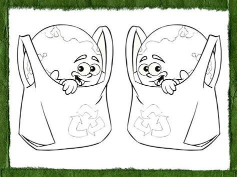 Dibujos para pintar con niños sobre el reciclaje y la ecología
