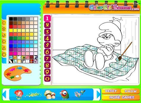 Dibujos para pintar online de los Pitufos | Dibujos para ...