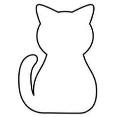 dibujos siluetas de animales | Colorear Silueta de Gato de ...