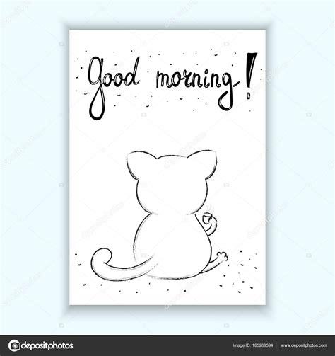 Dibujos: tarjetas de gatos de buenos dias | Divertidos ...