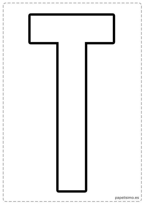 Dibujos y Plantillas para imprimir Abecedario letras para t