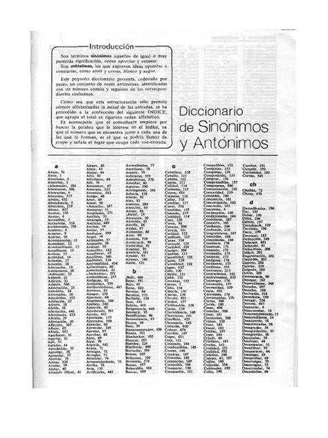 Diccionario de Sinonimos y Antonimos  Vr