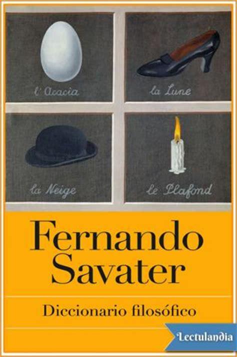 Diccionario filosófico - Fernando Savater - Descargar epub ...