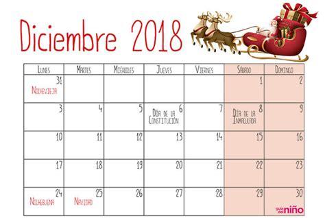 Diciembre   Calendario escolar 2018 2019 para imprimir ...