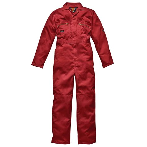 Dickies WD4839 Mens/Adult Redhawk Zip Front Work Overalls ...