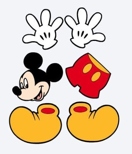 Die Cuts Mickey Mouse, Hands, Shorts & Shoes Party ...