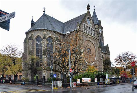 Die evang. Marktkirche in Neuwied, neugotische ...