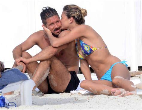 Diego Pablo Simeone y Carla Pereyra, un amor que se consolida
