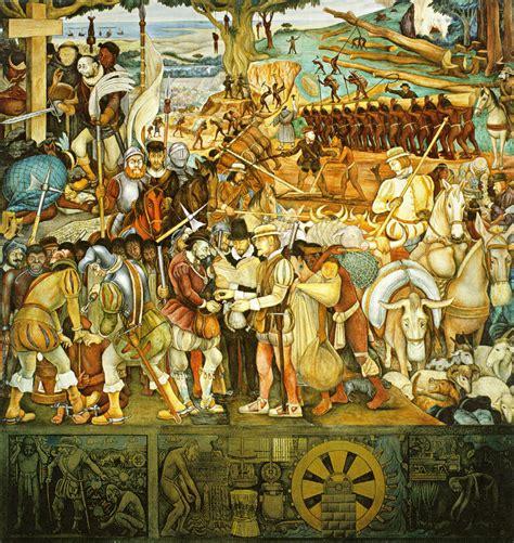 Diego Rivera. LA COLONIZACION O LLEGADA DE HERNAN CORTES A ...