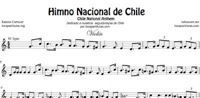 diegosax: Himno Nacional de Chile Partitura de Flauta ...