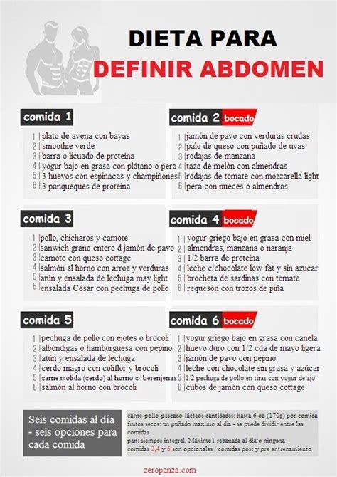 Dieta de 6 comidas al dia para definir abdomen | En forma ...