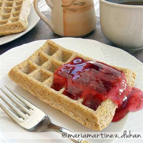 Dieta Dukan, desayunos: gofres de salvado de avena con ...