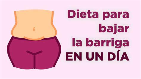 Dieta para bajar la barriga en un día   APERDERPESO.COM ...
