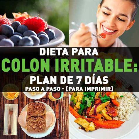 Dieta Para Colon Irritable: Plan de 7 Días Paso a Paso ...