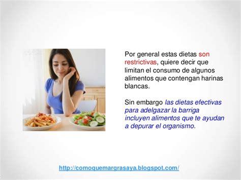 Dietas efectivas para adelgazar barriga