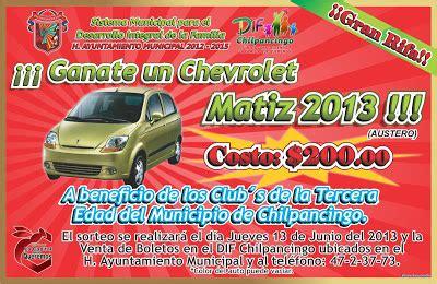 DIF MUNICIPAL CHILPANCINGO: ¡¡¡ Grandiosa Rifa de un Auto