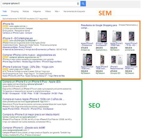 Diferencias entre SEO y SEM - Social 4U