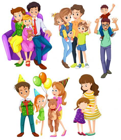 Diferentes familias | Descargar Vectores Premium
