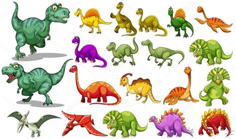 Diferentes tipos de dinosaurios — Vector de stock ...