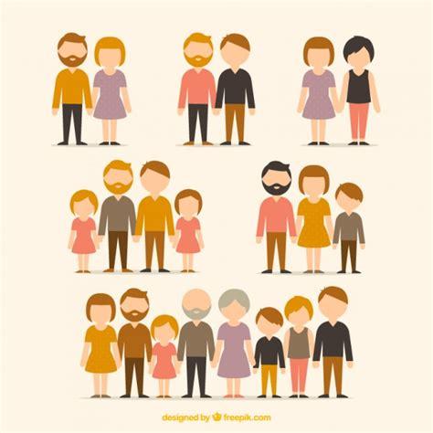 Diferentes tipos de famílias | Baixar vetores grátis